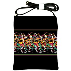 Colorful Barbwire  Shoulder Sling Bags