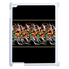 Colorful Barbwire  Apple Ipad 2 Case (white) by Valentinaart
