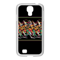 Colorful Barbwire  Samsung Galaxy S4 I9500/ I9505 Case (white) by Valentinaart