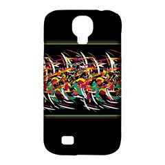 Colorful Barbwire  Samsung Galaxy S4 Classic Hardshell Case (pc+silicone) by Valentinaart