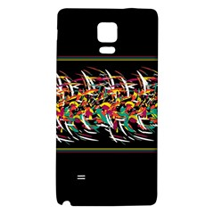 Colorful Barbwire  Galaxy Note 4 Back Case by Valentinaart