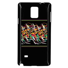 Colorful Barbwire  Samsung Galaxy Note 4 Case (black) by Valentinaart