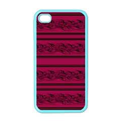 Red Barbwire Pattern Apple Iphone 4 Case (color) by Valentinaart