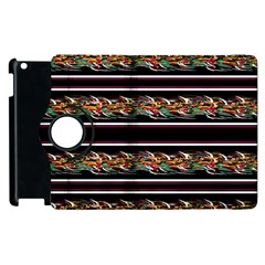 Colorful Barbwire Apple Ipad 3/4 Flip 360 Case by Valentinaart