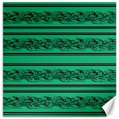 Green Barbwire Canvas 20  X 20   by Valentinaart