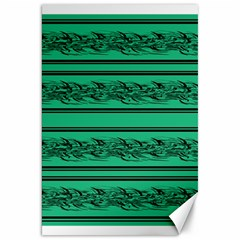 Green Barbwire Canvas 20  X 30   by Valentinaart