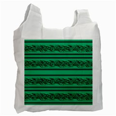 Green Barbwire Recycle Bag (one Side)