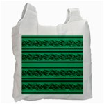 Green barbwire Recycle Bag (One Side) Front