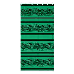 Green Barbwire Shower Curtain 36  X 72  (stall)
