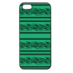 Green Barbwire Apple Iphone 5 Seamless Case (black) by Valentinaart
