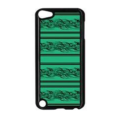 Green Barbwire Apple Ipod Touch 5 Case (black) by Valentinaart