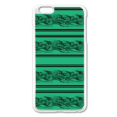 Green Barbwire Apple Iphone 6 Plus/6s Plus Enamel White Case by Valentinaart