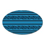 Blue barbwire Oval Magnet Front