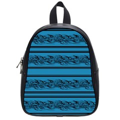 Blue Barbwire School Bags (small)  by Valentinaart