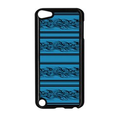 Blue Barbwire Apple Ipod Touch 5 Case (black) by Valentinaart