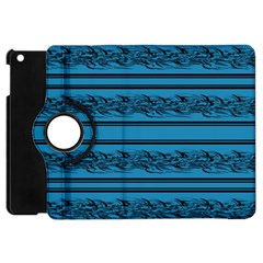 Blue Barbwire Apple Ipad Mini Flip 360 Case by Valentinaart