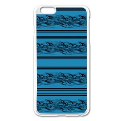 Blue Barbwire Apple Iphone 6 Plus/6s Plus Enamel White Case by Valentinaart