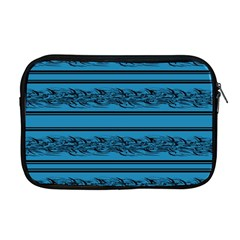 Blue Barbwire Apple Macbook Pro 17  Zipper Case