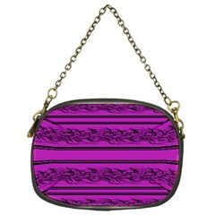 Magenta Barbwire Chain Purses (one Side)  by Valentinaart