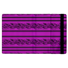 Magenta Barbwire Apple Ipad 2 Flip Case by Valentinaart