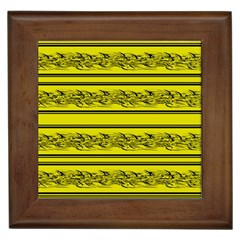 Yellow Barbwire Framed Tiles by Valentinaart