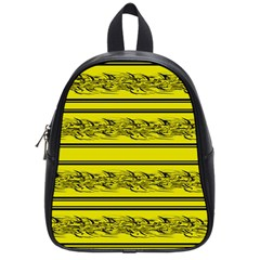 Yellow Barbwire School Bags (small)  by Valentinaart