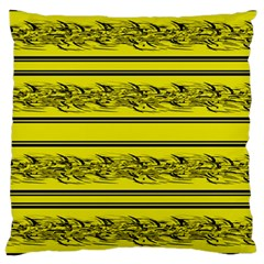 Yellow Barbwire Large Cushion Case (one Side)