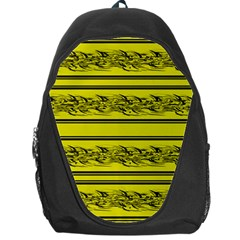 Yellow Barbwire Backpack Bag
