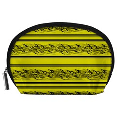 Yellow Barbwire Accessory Pouches (large)  by Valentinaart