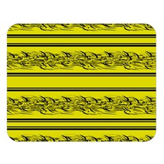 Yellow Barbwire Double Sided Flano Blanket (large)  by Valentinaart