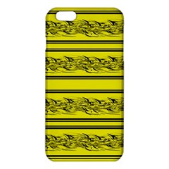Yellow Barbwire Iphone 6 Plus/6s Plus Tpu Case by Valentinaart
