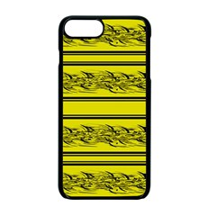Yellow Barbwire Apple Iphone 7 Plus Seamless Case (black) by Valentinaart
