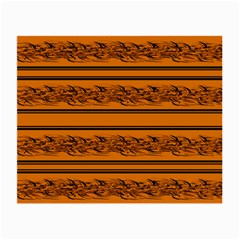 Orange Barbwire Pattern Small Glasses Cloth (2 Side)
