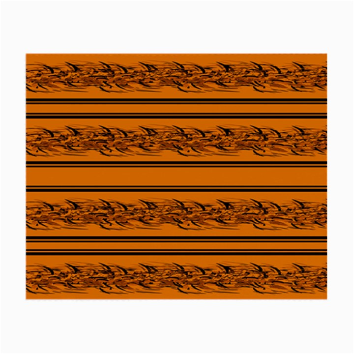 Orange barbwire pattern Small Glasses Cloth (2-Side)