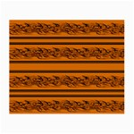 Orange barbwire pattern Small Glasses Cloth (2-Side) Back