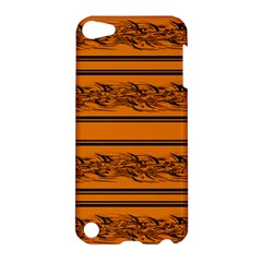 Orange Barbwire Pattern Apple Ipod Touch 5 Hardshell Case by Valentinaart
