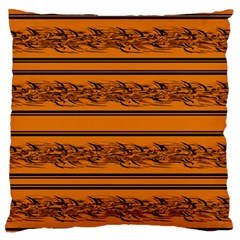 Orange Barbwire Pattern Standard Flano Cushion Case (one Side) by Valentinaart