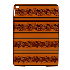 Orange Barbwire Pattern Ipad Air 2 Hardshell Cases by Valentinaart