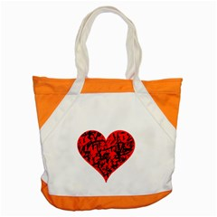 Valentine Hart Accent Tote Bag by Valentinaart