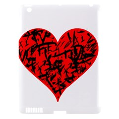 Valentine Hart Apple Ipad 3/4 Hardshell Case (compatible With Smart Cover)