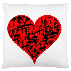 Valentine Hart Large Cushion Case (two Sides) by Valentinaart