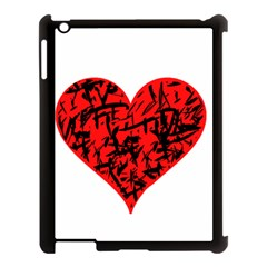 Valentine Hart Apple Ipad 3/4 Case (black) by Valentinaart