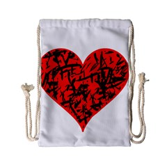 Valentine Hart Drawstring Bag (small) by Valentinaart
