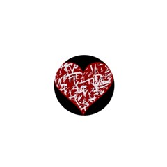 Valentine s Day Design 1  Mini Buttons by Valentinaart