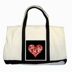 Valentine s Day Design Two Tone Tote Bag by Valentinaart