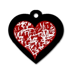 Valentine s Day Design Dog Tag Heart (two Sides) by Valentinaart