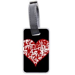 Valentine s Day Design Luggage Tags (one Side)  by Valentinaart