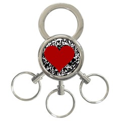 Red Valentine 3 Ring Key Chains by Valentinaart