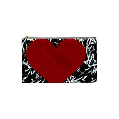 Red Valentine Cosmetic Bag (small)  by Valentinaart