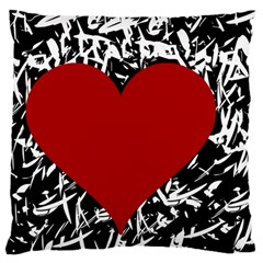 Red Valentine Standard Flano Cushion Case (one Side) by Valentinaart
